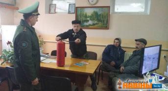 Сотрудники РОЧС провели разъяснительную беседу в «Хвоецком»