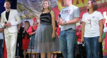 Под  аккомпанемент дождя прошел в Микашевичах фестиваль «Мы – едины, мы – молодежь!»