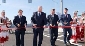 Лукашенко принял участие в торжественной церемонии открытия Западного обхода Бреста