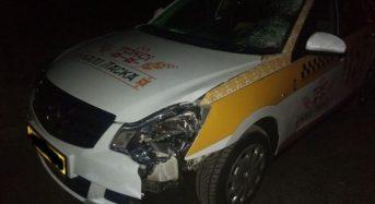 Такси сбило пешехода в Лунинце