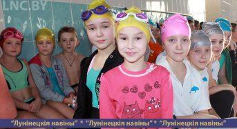 Соревнования по плаванию проходят в Лунинце